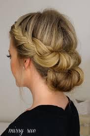 chagne pour mariage chignon pour un mariage coiffure de mariage avec tresse coiffure