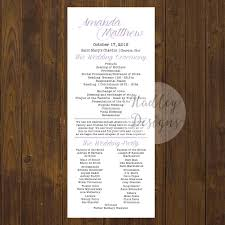 wedding day program hadley designs programs
