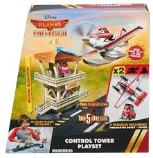 mattel disney planes fire u0026 rescue control tower playset