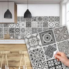 carreaux muraux cuisine ps00028 pvc autocollants carreaux muraux pour salle de bains et