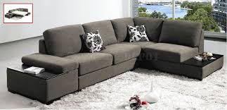 Gray Microfiber Sectional Sofa Sectional Sofa Design Sectional Sofas Grey Leather Modern