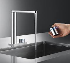 touch on kitchen faucet kitchen minimal faucet for kitchen by gessi minimo laurieflower