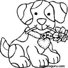 free print dog coloring pages kids colouring images