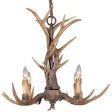 Antler Chandelier Home Depot Effortinc Vintage Style Resin Antler Chandelier 4 Lights Living