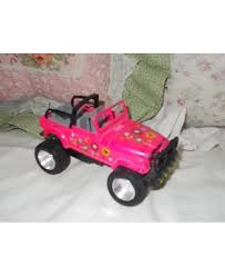 jeep lifted pink pink flowered jeep lift up hood jeep small metal jeep vintage toy