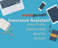 insurance assistant growth opportunities work profile benefits
