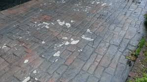 Cover Cracked Concrete Patio by Repairing Stamped Concrete The Concrete Professor