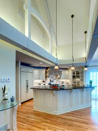 Overhead Kitchen Lighting Ideas by Kitchen With High Ceiling