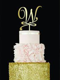 w cake topper letter h cake topper gold monogram wedding cake topper initial