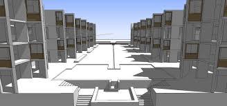 sketchup 3d architecture models salk institute louis kahn