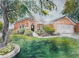 watercolor paintings art by derek mccrea house drawing