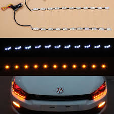 how to install led lights in car headlights free shipping flexible drl strip led daytime running light for car