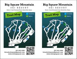 Squaw Trail Map Big Squaw Skigenie