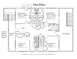 Deck Floor Plan by House Floor Plan U2013 8 Sandpiper