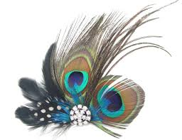 feather hair clip buy leegoal peacock feather hair clip online at low prices in