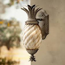 pineapple outdoor light fixtures hinkley plantation 14 high pearl bronze outdoor wall light f8618