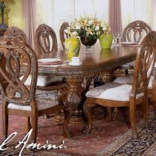 Aico Furniture Dining Room Sets Tuscano Biscotti Finish Traditional Dining Table Set Aico