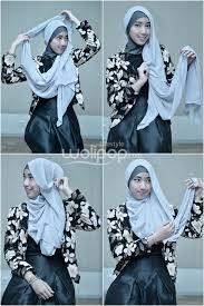 Tutorial Hijab Noura   tutorial hijab aksen ruffle untuk ke acara formal