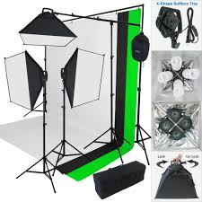 photography backdrop stand linco store 2000 w photo studio lighting kit 3 color muslin