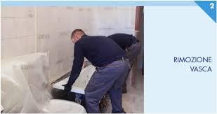 rimozione vasca da bagno installazione doccia con il sistema remail