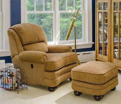 smith brothers 988 upholstered tilt back reclining chair u0026 ottoman