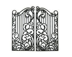 wrought iron fence etsy