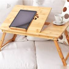 Computer Stand For Desk Foldable Laminating Portable Adjustable Classical Bamboo Computer