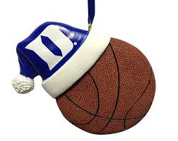 duke santa hat basketball ornament