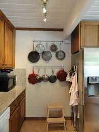 Kitchen Wall Organizer Wall Pot Rack Designs Functional Wall Pot Rack For Simple