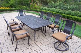 Aluminum Patio Furniture Set - oakland living aluminum patio dining set 84x42