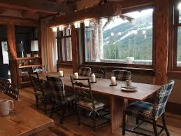 rustic chic dining room ideas polished rectangular rustic table
