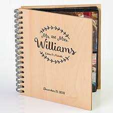 personalized wedding photo albums engraved wood personalized wedding photo album