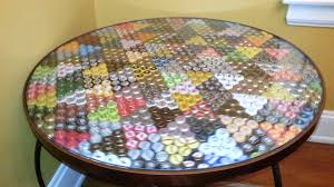 beer cap table top craft beer bottle cap table it spins too youtube