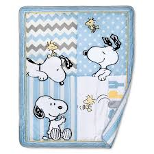 Snoopy Crib Bedding Peanuts 4 Crib Bedding Set My Snoopy Target