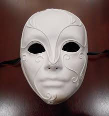 unpainted masks theatrical mask