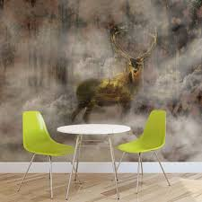 wall mural photo wallpaper xxl deer wild forest fog nature wall mural photo wallpaper xxl deer wild forest