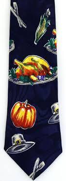 thanksgiving tie turkey bird dinner mens necktie thanksgiving food gift