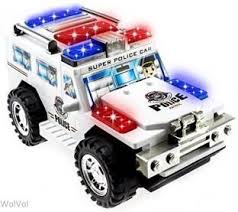 remote control police car with lights and siren happy kidz happy kids free wheel ride on with police siren and