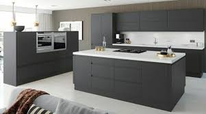 cuisine gris et noir cuisine gris et blanc coin spacieux c3 a9quip a9e anthracite plan de