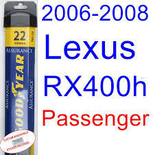 lexus rx400h oil change cost amazon com 2006 2008 lexus rx400h wiper blade rear goodyear