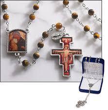 catholic store online san damiano tiger eye bead rosary online catholic store