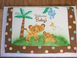 jungle theme baby shower cake edee s custom cakes baby shower jungle theme