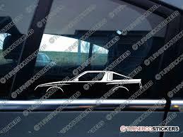 mitsubishi starion 2x classic car silhouette sticker mitsubishi starion widebody