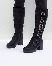 womens leather boots knee high boots leather knee high boots asos
