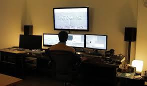 Studio Production Desk by Post Production Le Gouffre