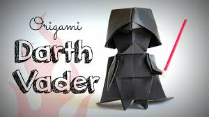 how to make an origami darth vader star wars youtube