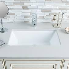 hahn ceramic vc014 medium rectangular ceramic bathroom sink white