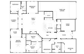 Home Plans 5 Bedroom 4 5 Bedroom Ranch House Plans Nrtradiant Com