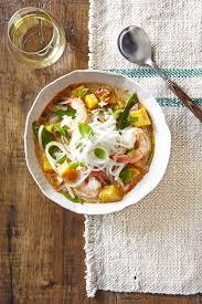 best thai noodle soup with shrimp u0026 pumpkin recipe countryliving com