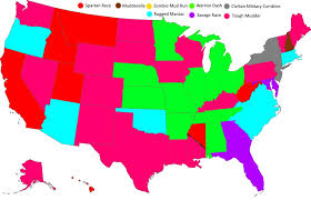 Rocky Mountain States Map The Most Popular Obstacle Courses For Each State Map